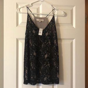 Black Lace Cami - LOFT